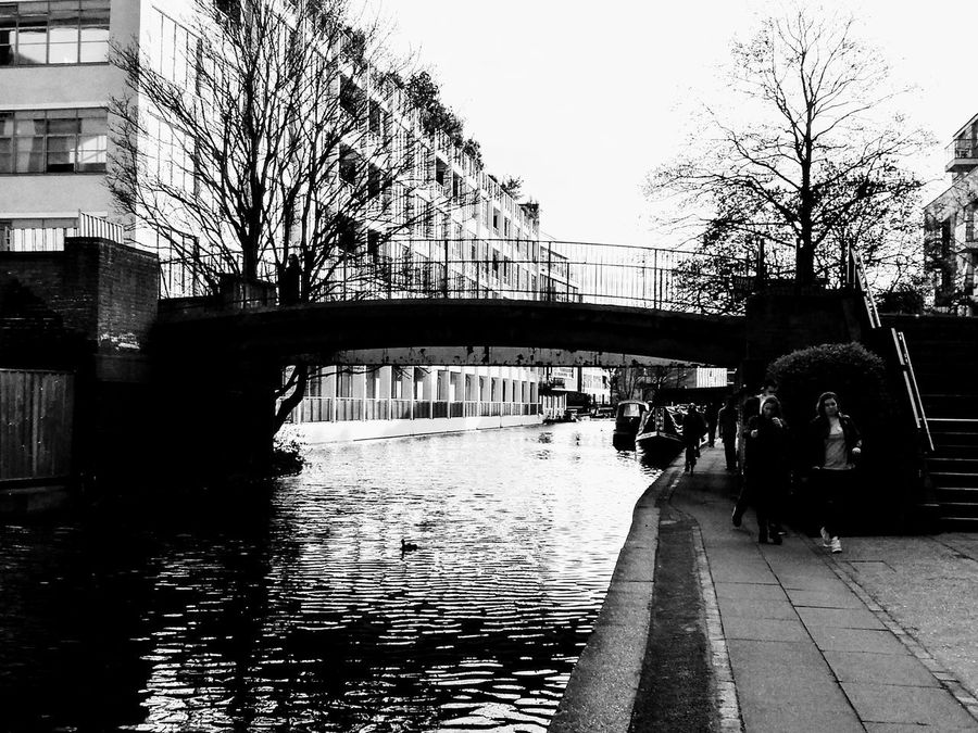 Canals And Waterways Bridge Built Structure Architecture Reflection Silhouette Bridge - Man Made Structure