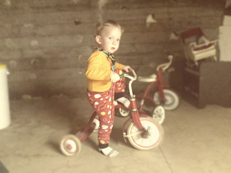My son on my old tricycle... Baby Cycling Beautiful Photo Of The Day
