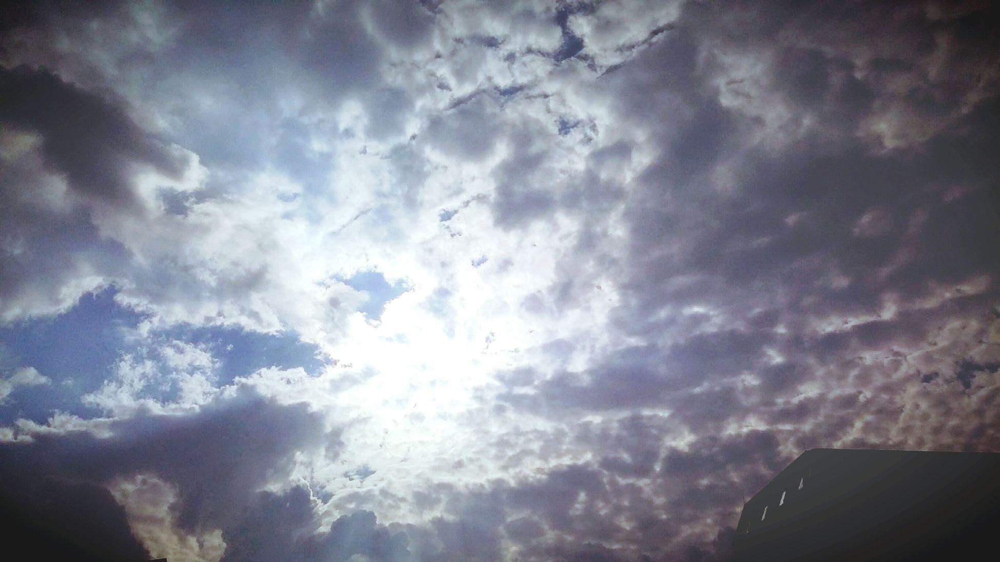 명동에서 집 오늘길의 여름하늘