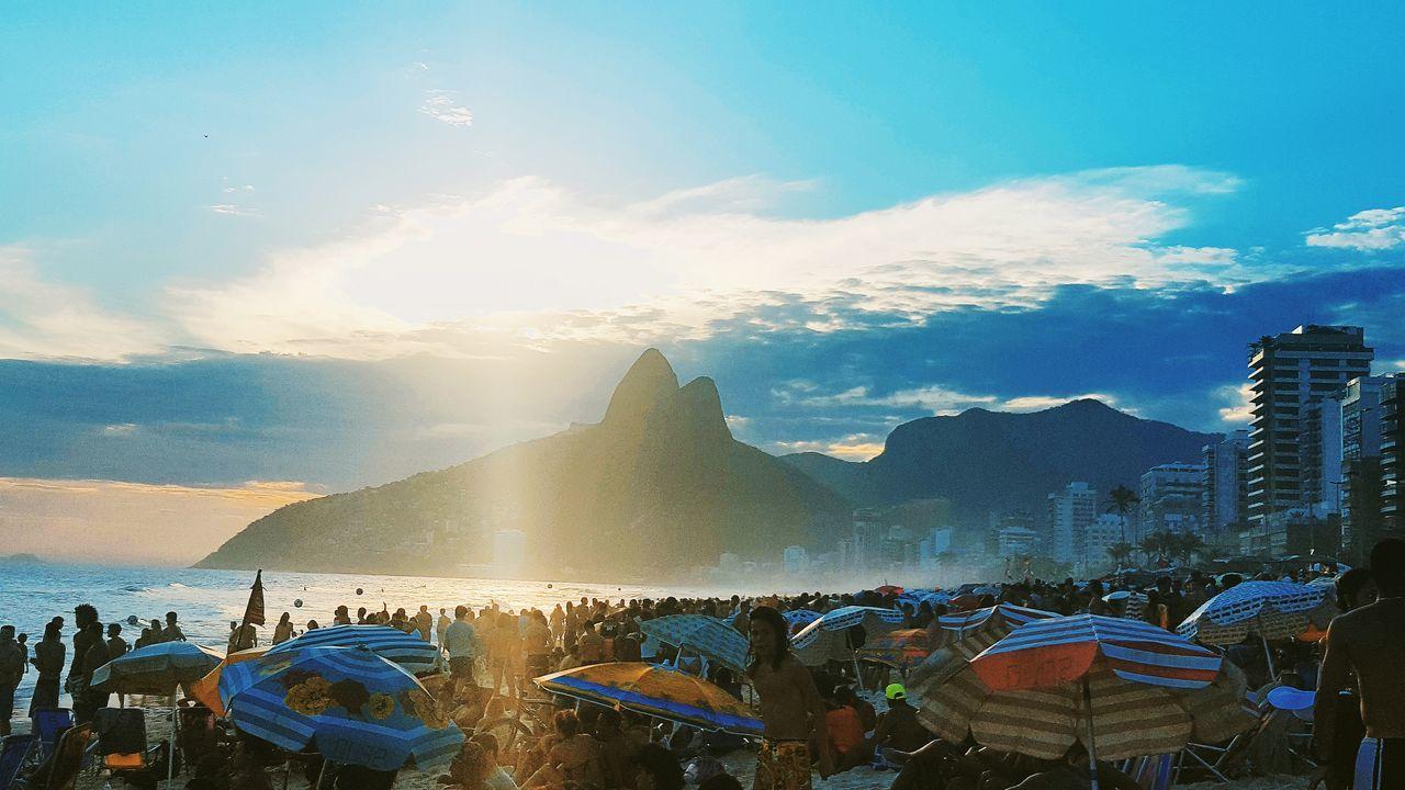 Sky Cloud - Sky Nature Sunset Water Beauty In Nature Outdoors Rio De Janeiro Ipanema Beach Beach Photography Lifestyles Sunlight