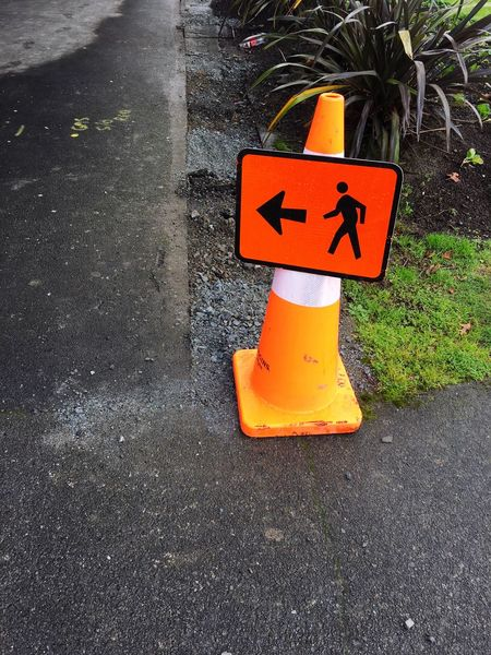 Walking directions Outdoors Guidance Footpath Path Directional Sign Directions Road Cone Arrow