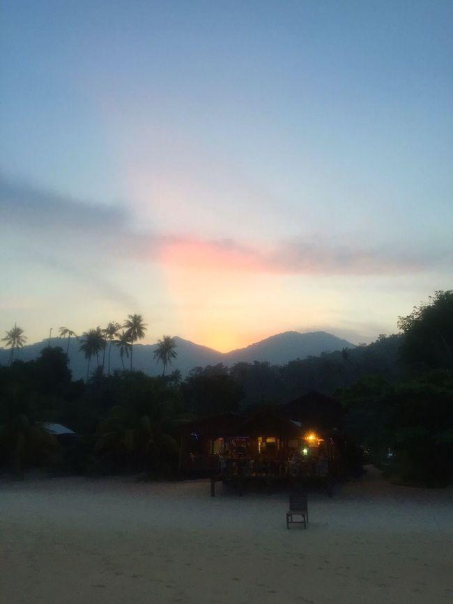 Tioman Tioman Island Island Tropical Paradise Paradise Sunset Nature Sunset Over Mountains