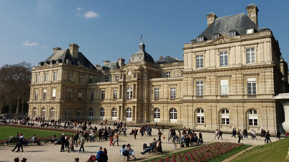 Architecture Building Exterior Travel Destinations City Life Day People Façade City Jardin Du Luxembourg