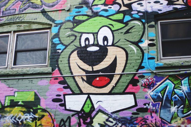 Graffiti Yogibear Wall Art Street Photography Streetphotography Outdoors Art Art, Drawing, Creativity