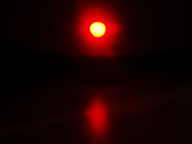 This is not a sunset it is actually the light of my mediabox by night No Sunset Mediabox Light At Night Optical Illusion