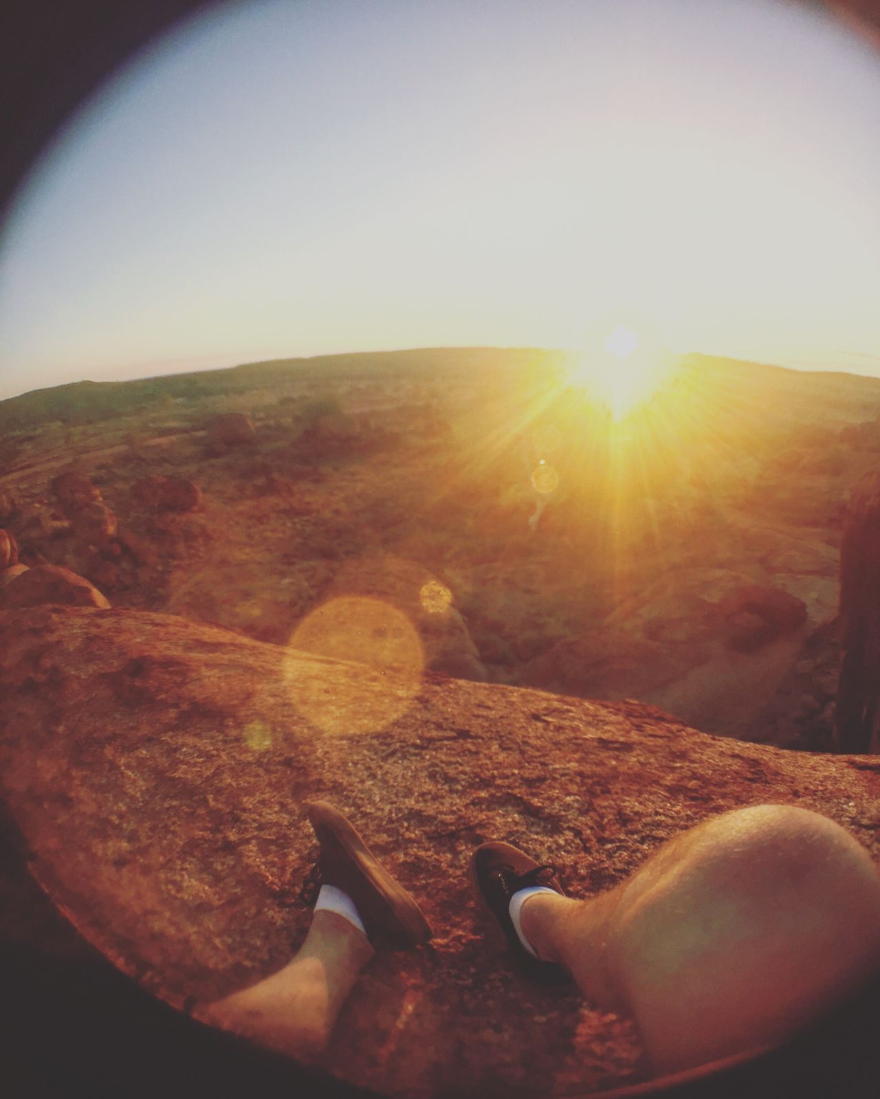 Never. Stop. Exploring. Lens Flare Sunlight Sun Sunbeam Sky Landscape Nature Real People Outdoors Beauty In Nature Scenics Day One Person Fish-eye Lens Human Hand EyeEmNewHere Canon Photographer Photography Austraila Northern Territory