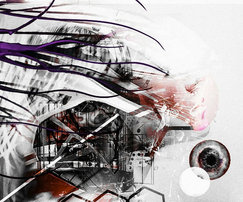 Freestyle Multiple Exposures Digital Art One Person Futuristic Sequence Colors Eyes Are Soul Reflection Entre Ombre Et Lumiere Rising Mouvement Generatepic Human Representation Passage Interdit From My Point Of View France