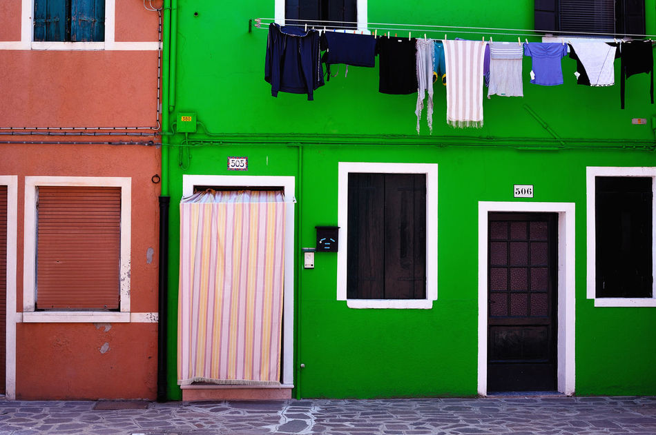 Beautiful stock photos of green, Architecture, Building Exterior, Built Structure, Clothesline