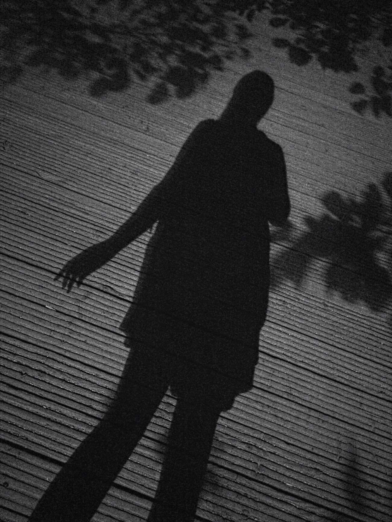 Self Portrait Portrait Female Iphonography Iphoneonly Blackandwhite Night Nightwalk Alone... Shadow Flower Shadow Bridge Way Unrecognizable Person Unrecognizable Long Natural Frame Mangraphy