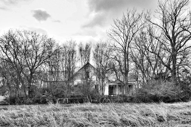 Blackandwhite Abandoned Gonebutstanding