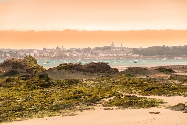 2pm Ashes day - that photo was shot that time when the ashes from the Portuguese fire came up to Brittany accompanied by a sandstorm creating a unique view. Brittany Colors EyeEm Best Shots EyeEm Nature Lover France Light Nature Nature Photography Tranquility Air Beach Beachday Beauty In Nature Day Horizon Over Water Landscape Low Tide Lowtide  Nature_collection Naturelovers No People Outdoors Scenics Sky Tide
