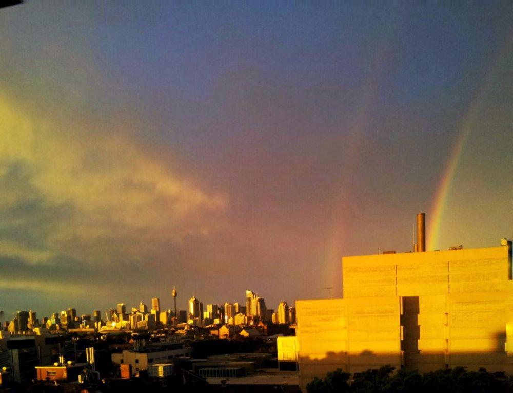 Double rainbow... IPS2015Light Double Rainbow Light And Shadow Urban Landscape IPhoneography IPSWeather