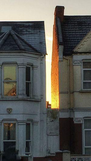 London Cricklewood City Life Cityscape Suburbia Winter Winter Sun Sunrise Houses Houses And Windows