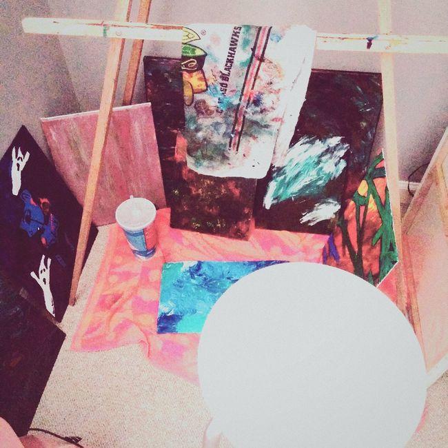 My art space 🌼 Artspace Artist Painter Colorful Smallspace Quaint  Lovely