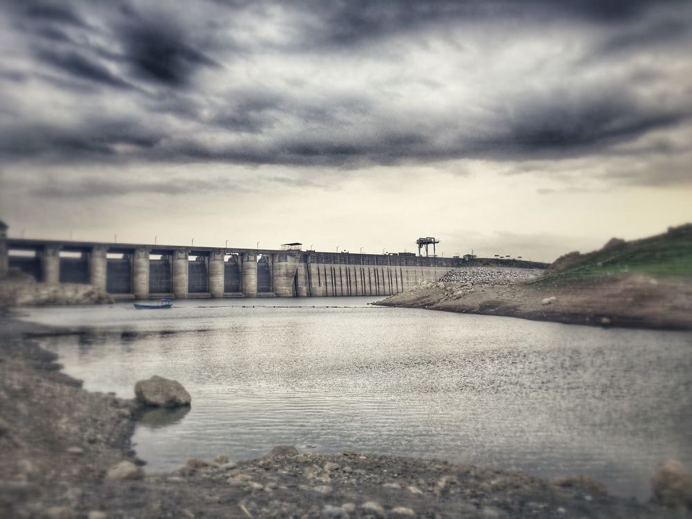 Harsh Edit with Snapseed of MagatDam Dramatic Skies River Nature Landscape IPhoneography Low Angle View