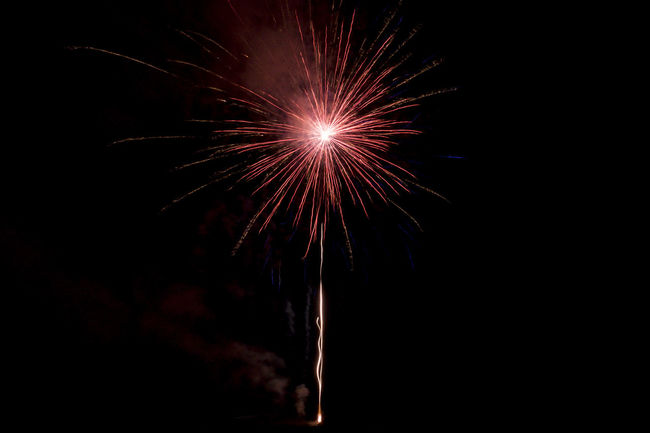 My Year began with a red star. A good sign🎆🍀 New Year Around The World No People Red The Red Series Fireworks Abstract Creative Light And Shadow Star Sign