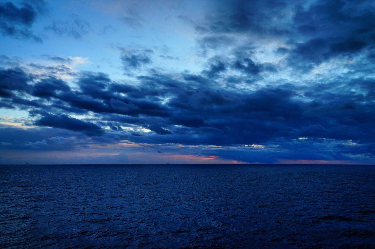 Sea Seascape Beauty In Nature Dramatic Sky Cloud - Sky Scenics Nature Sunset Sunrays Idyllic Hues Clouds And Sky Clouds Horizon OpenSea
