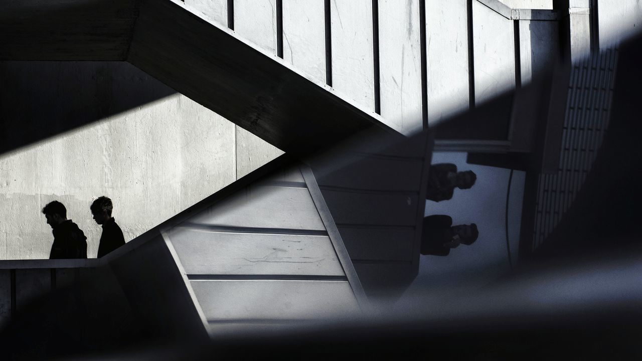 streetphotography street photography urban EyeEm Silhouette staircase shadow Steps steps and staircases people Adult two people Architecture real people day