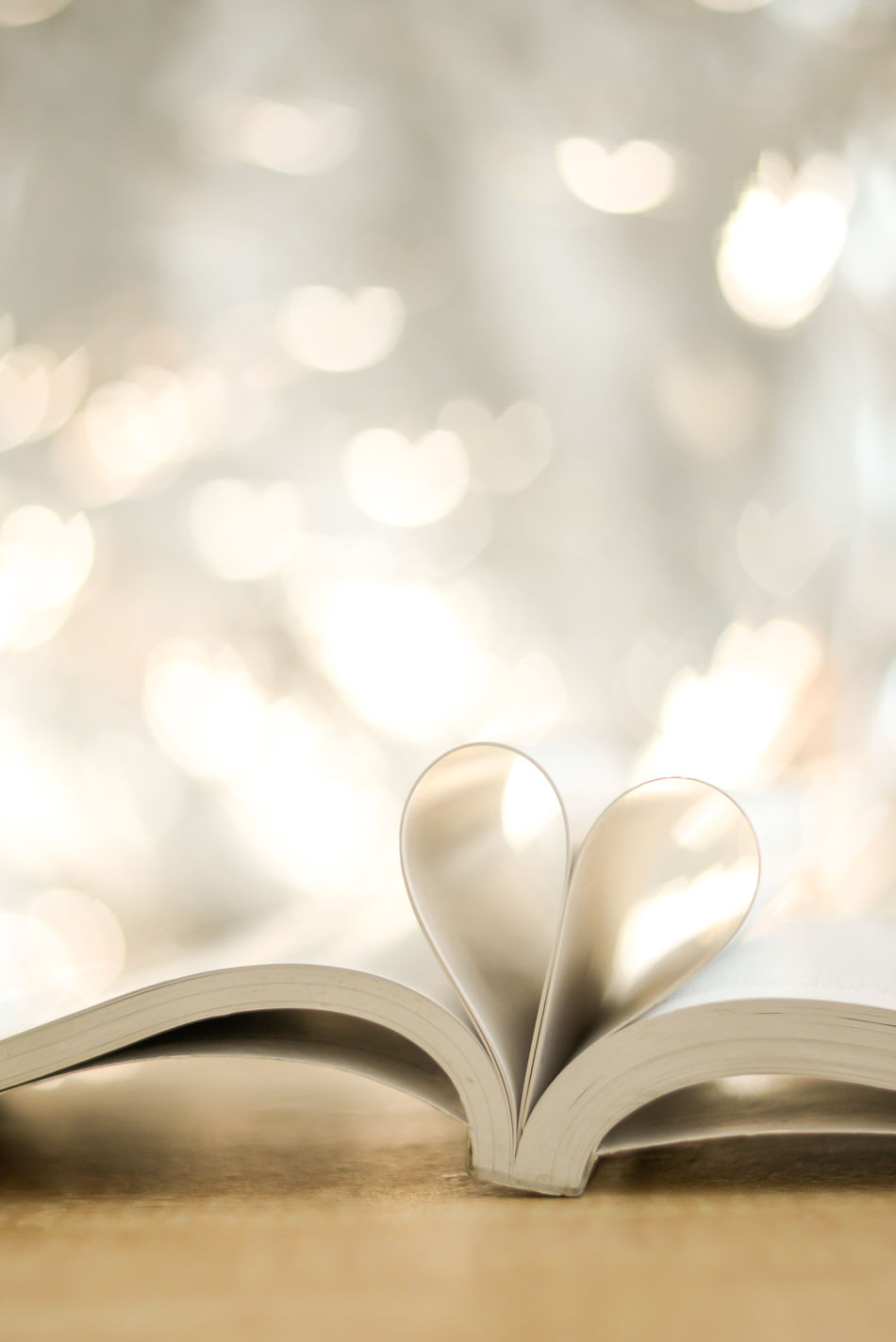 Book Close-up Day Heart Shape Indoors  Love No People Page Still Life Table