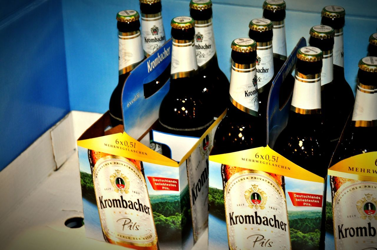 Beer Krombacher Germany Beverages Shop Beerbottles Beer Time Composition Taking Photos Relaxing