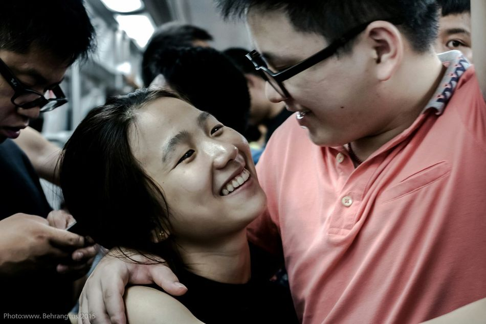 Streetphotography Shenzhen China Chinailoved Lovers Behrang.us Subway