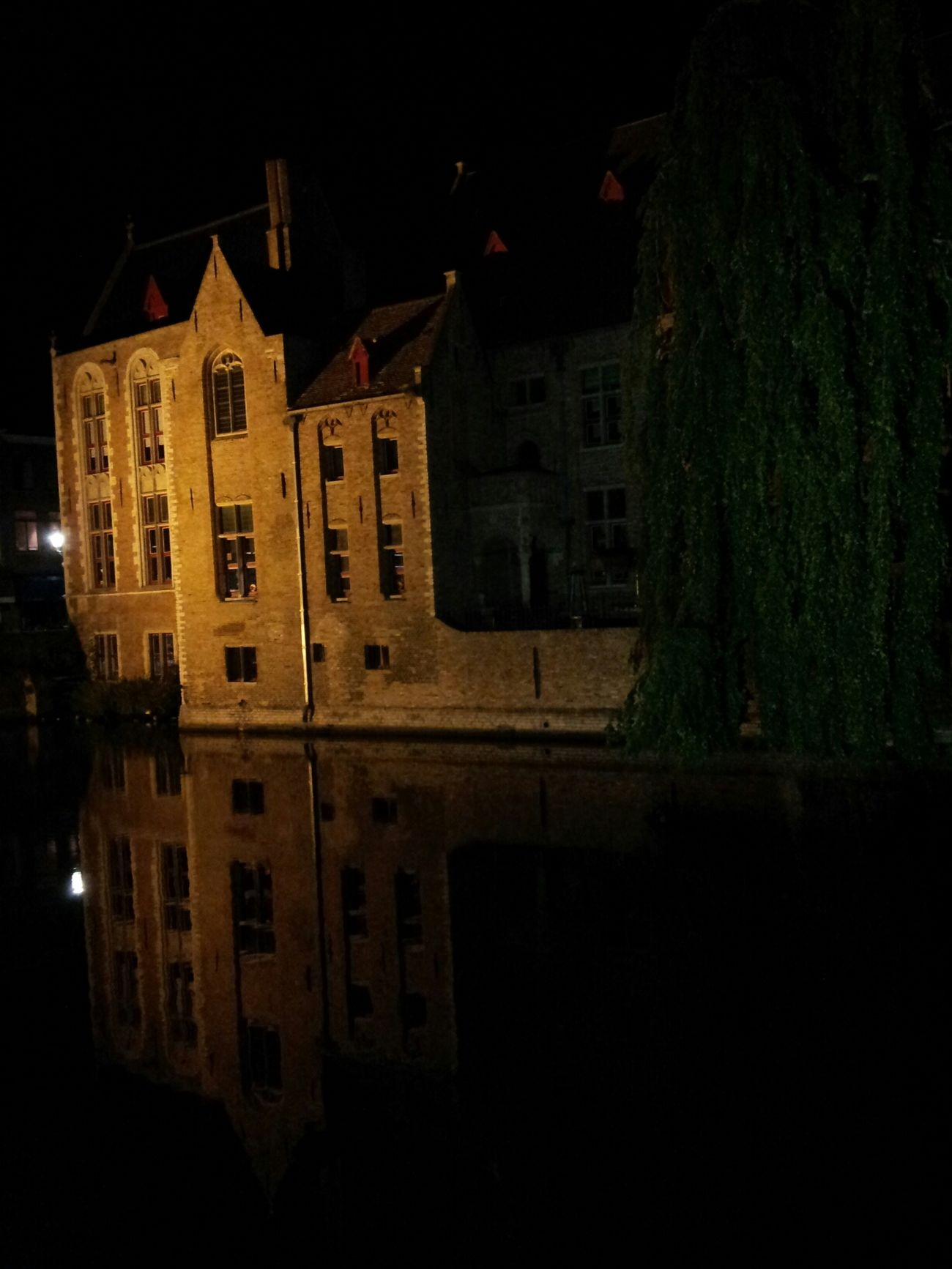 City Brugge  Romance Night Mirror Night