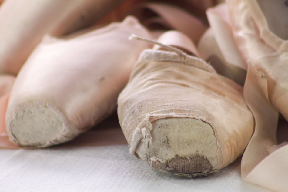 Activity Art Artistic Ballerina Ballet Ballet Shoes Beauty Dancer Detail Ethereal Fatigue  Object Old Performance Satin Training Used