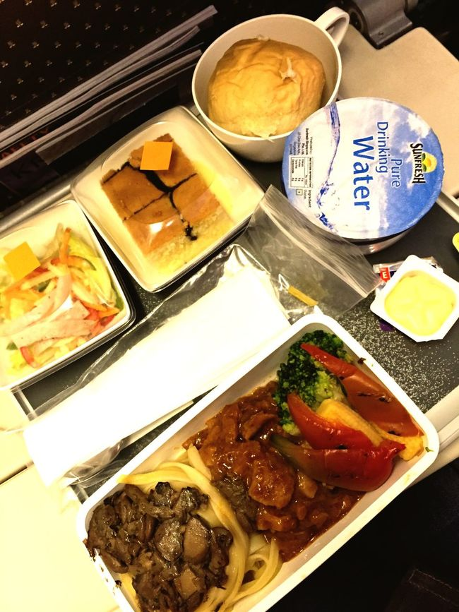 Economy Class Singapore Airlines Airplane Meals Foodphotography Foodporn Complete Meal