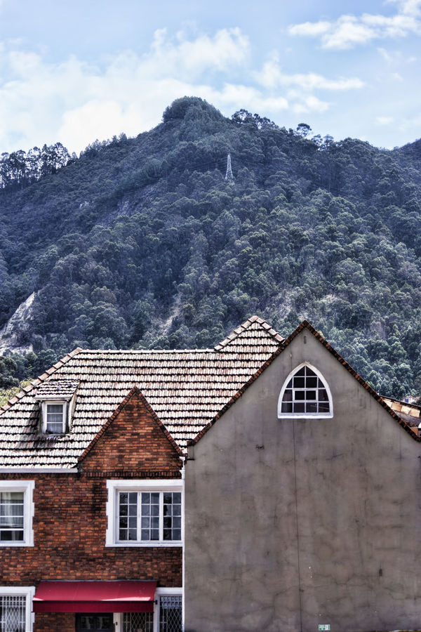 Architecture Bogota,colombia. Bogotacity Building Exterior Built Structure Cerros Orientales Chapinero Cloud - Sky Day Facades House Mountain No People Outdoors Residential Building Roof Sky Tree