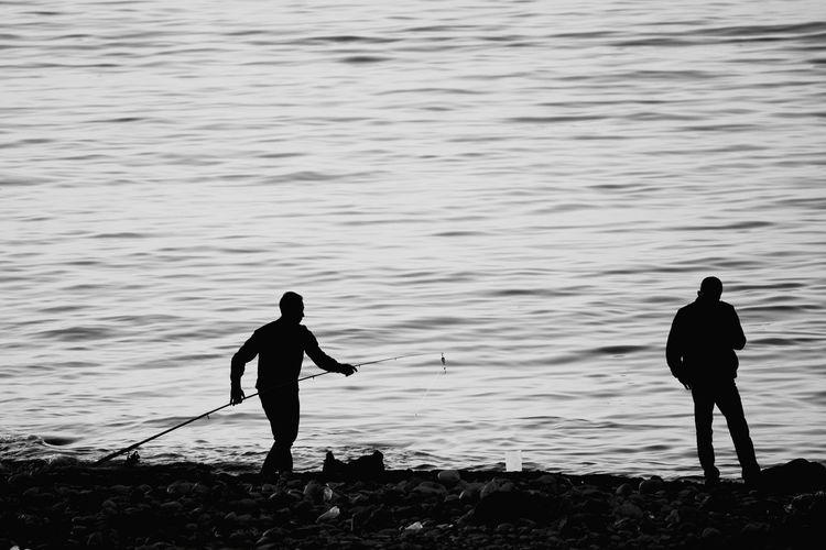 Fishing Balık Avlamak İskenderun Sea Deniz Siyahbeyaz