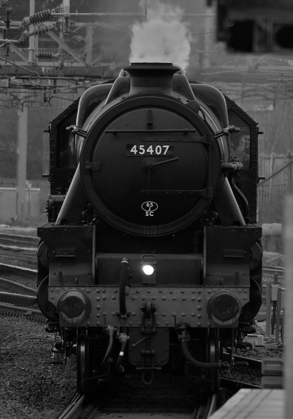 Architecture Black And White Blackandwhite Check This Out Day Hello World Historical Reenactment Locomotive My Photography Nikon Nikon D3200 No People Numbers Old-fashioned Outdoors Rail Transportation Railroad Track Steam Train Taking Photos Train Train - Vehicle Train Station Transportation