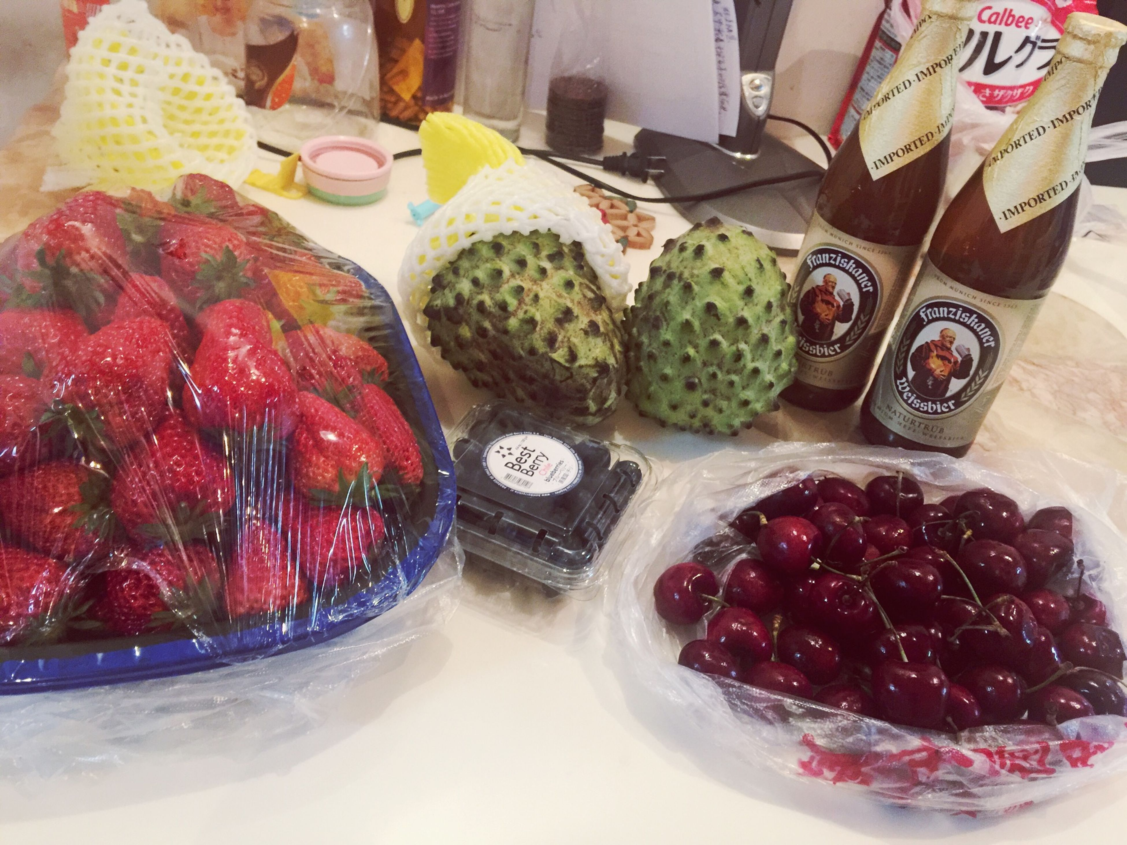 food and drink, food, indoors, freshness, fruit, sweet food, still life, strawberry, variation, table, dessert, high angle view, indulgence, healthy eating, bowl, abundance, choice, ready-to-eat, large group of objects