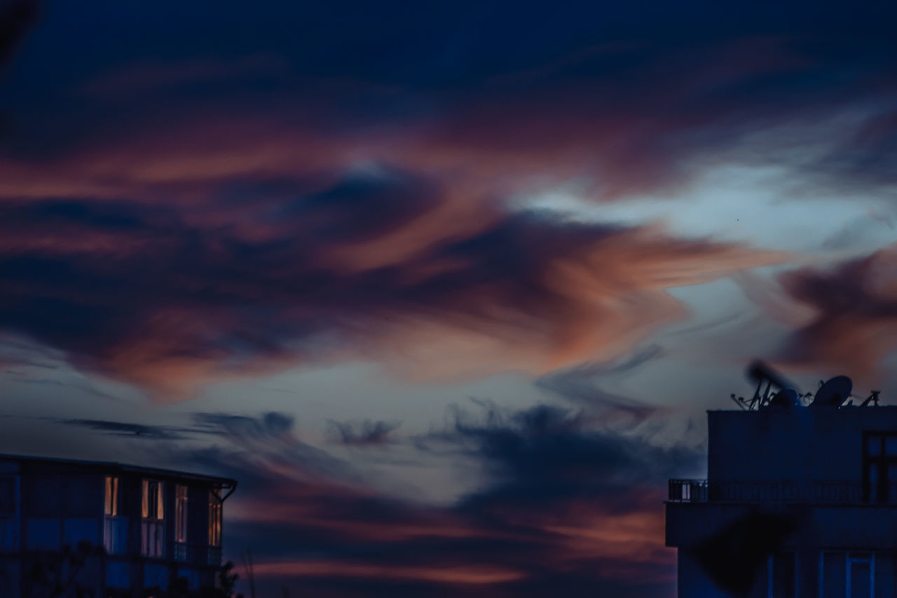 sunset, cloud - sky, sky, dramatic sky, built structure, building exterior, architecture, silhouette, no people, outdoors, dusk, nature, beauty in nature, low angle view, scenics, day