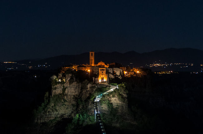 Ancient Architecture Building Exterior Built Structure City Civita Di Bagnoregio Dark Footpath Forgotten Illuminated Italy Landscape Landscape_photography Majestic Mountain Mountain Range Night Nightphotography Old Old Town Outdoors Religion Secret The Way Forward Unique