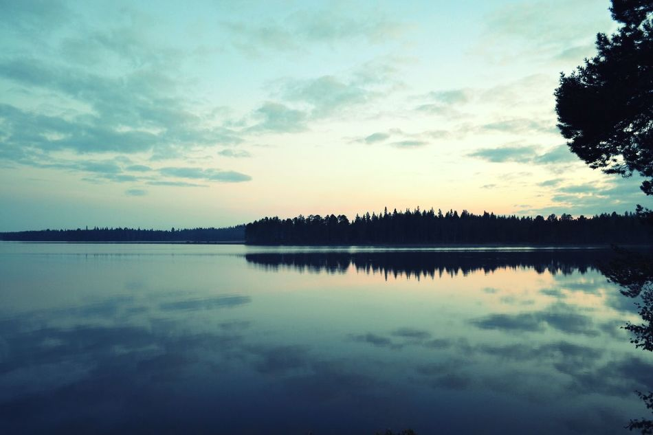 Reflection Nature Sunset Lake Water Scenics Tree Sky Landscape Outdoors Beauty In Nature Tranquil Scene No People Day Photography Backgrounds Travel Tranquility Travel Photography Ranua Finland Finland Summer Summer