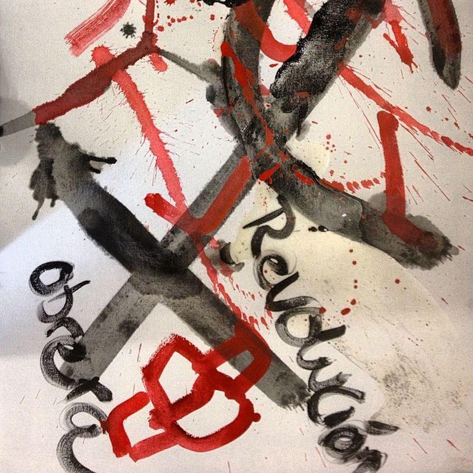 Revolucion obrera Abstrato Negua Taller tintas @art_everywhere @abricot_bilbao @starbucks