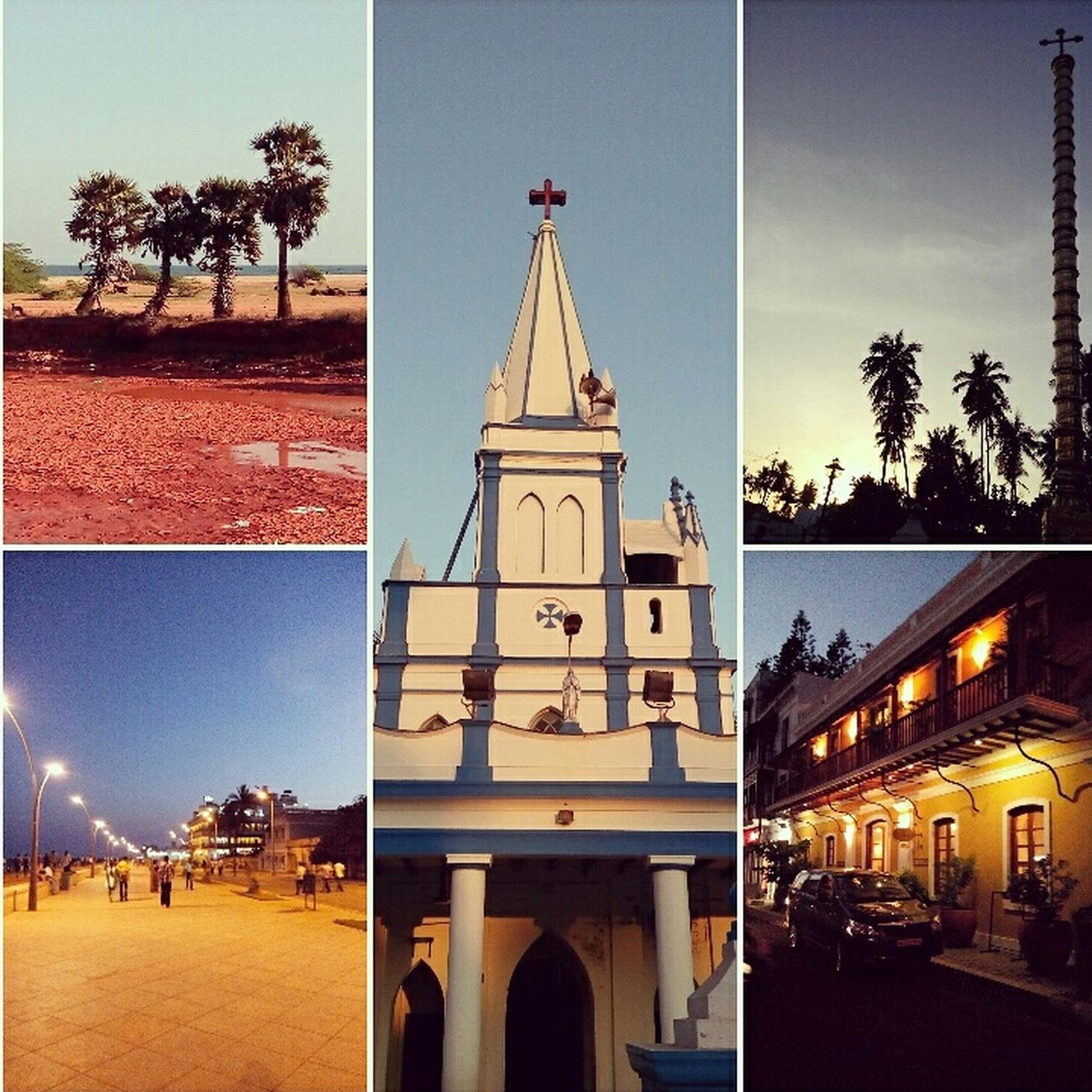 Photo Collage Pondycherry Pondy Collageoftheday Collage Of Pondy Streetphotography Streetview Pondy Streets Travel Photography Incredibleindia
