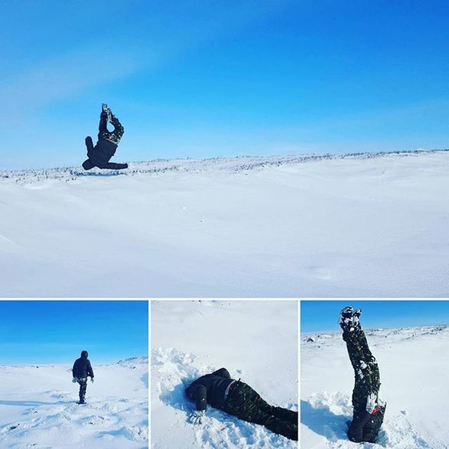 I've got skillzzz!!! Adventure Snow Funtimes Headstand Frontflip Bluesky Clearskys Thisguy