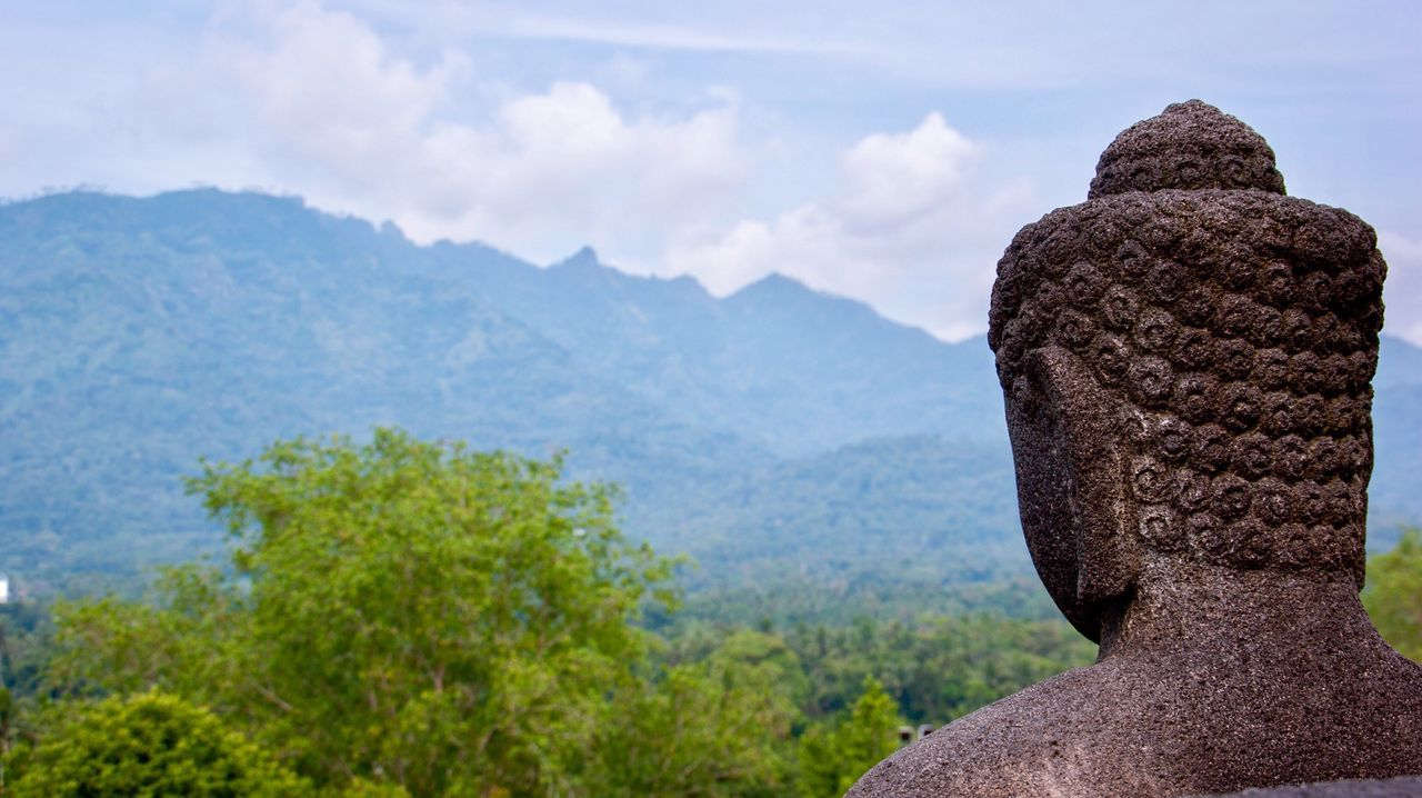 Borobudur Barabudhur Temple Buddha Buddhism Mountain Nature Sky Travel Destinations Statue Outdoors Day Scenics Sculpture Cloud - Sky Beauty In Nature Close-up Tree Jogjakarta Java Indonesian Photographers Collection INDONESIA