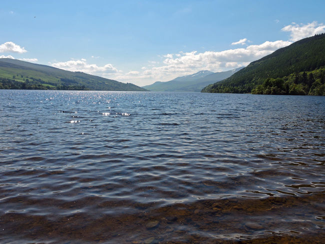 Beauty In Nature Blue Calm Cloud - Sky Day Idyllic Lake Loch Tay Majestic Mountain Mountain Range Nature No People Non Urban Scene Non-urban Scene Outdoors Rippled Scenics Scotland Scottish Loch Sky Tourism Tranquil Scene Tranquility Water