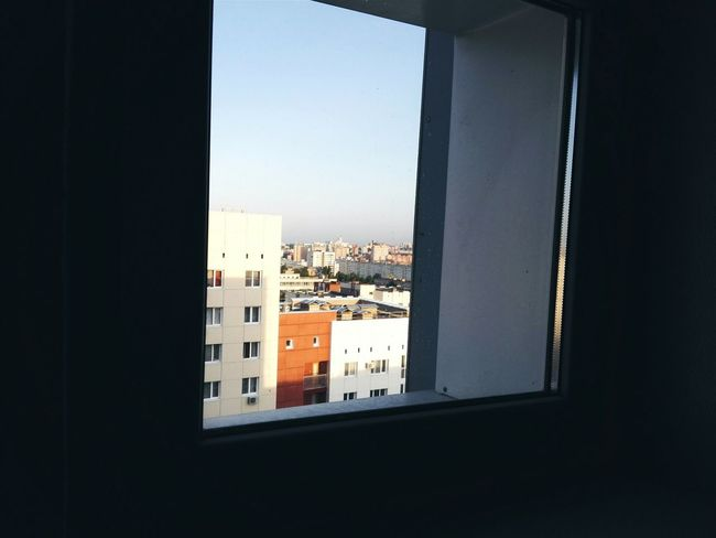 Window Indoors  Architecture Built Structure Cityscape Pry Sky No People Summer Peep High