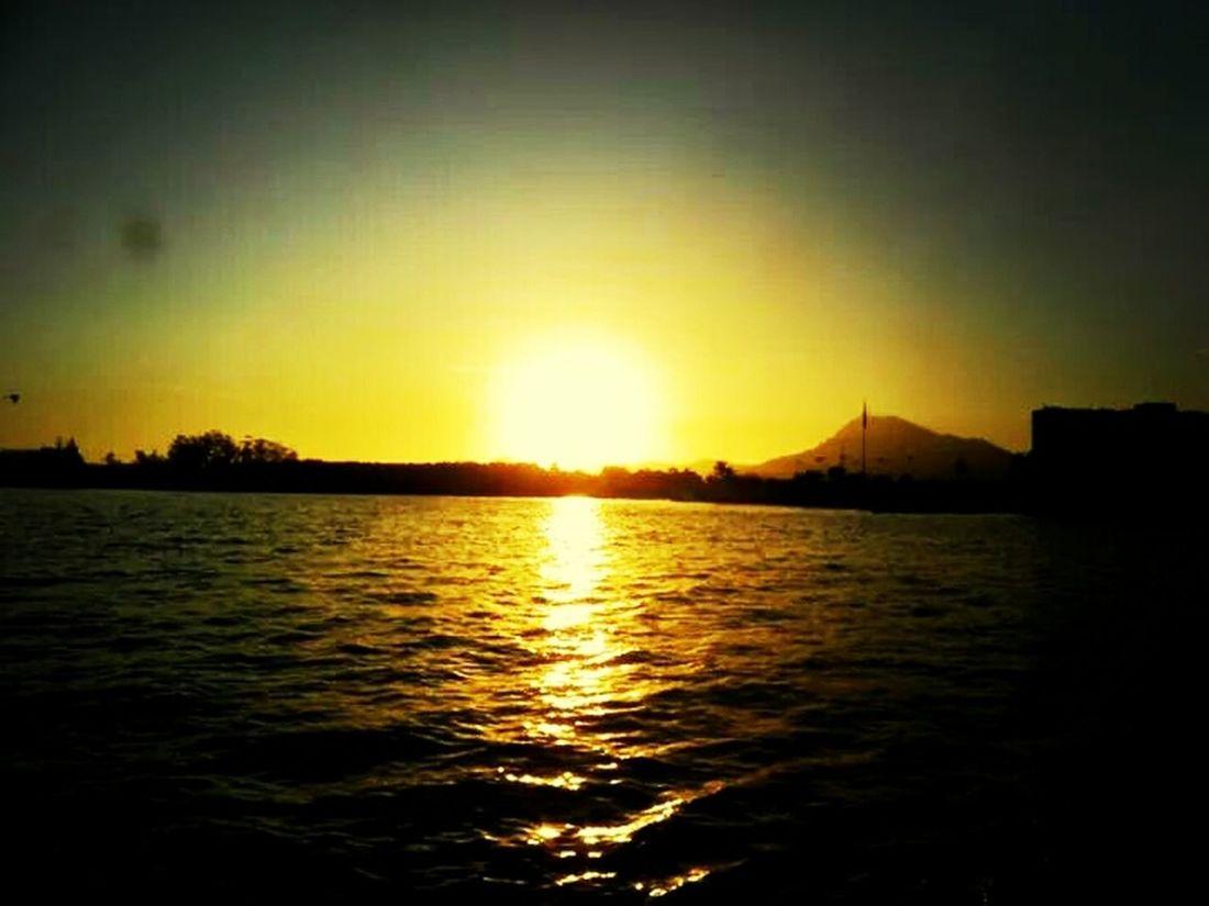 Sun ☀ Beautifull Sunset Beautiful Nature It Was All Yellow