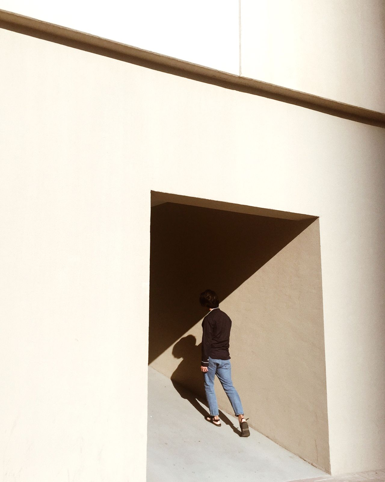 //keep my head afloat one person Architecture shadow minimalism minimal Dubai