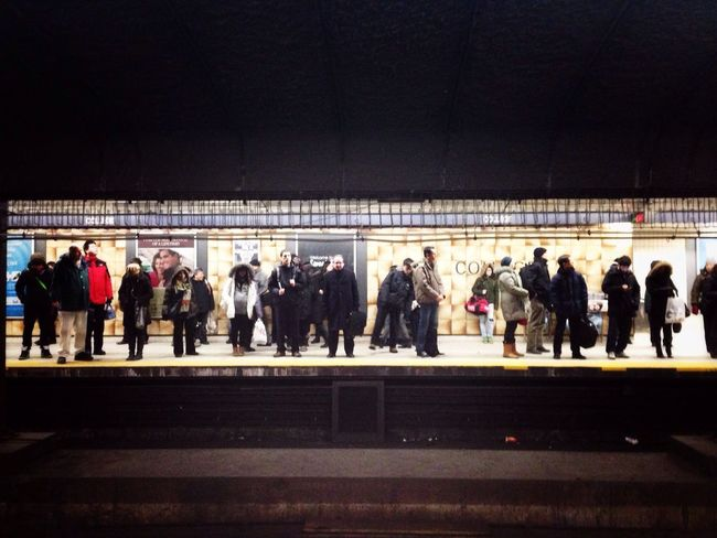 Waiting for the train. Subway Station People Watching Underground Ttc