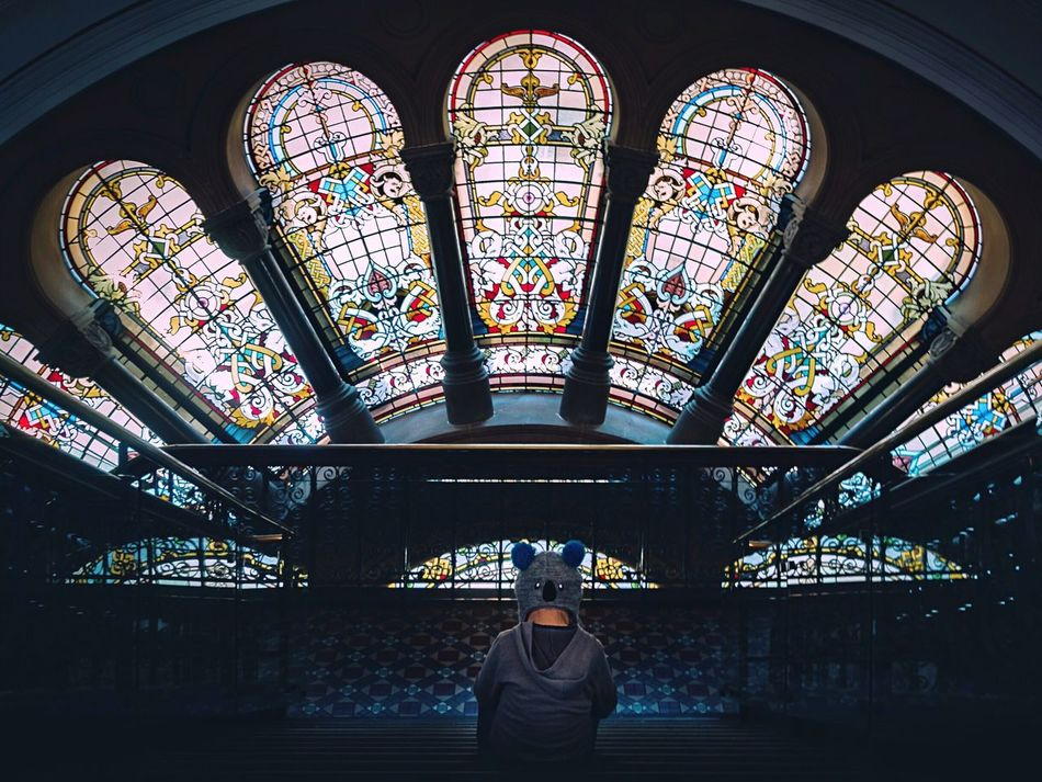 🐨 Geometric Shapes Geometry Pivotal Ideas QVB Sydney Australia Queen Victoria Building Child Lonely Solitude Alone One Childhood Boy Mood Stained Glass Check This Out Tones Colour Of Life