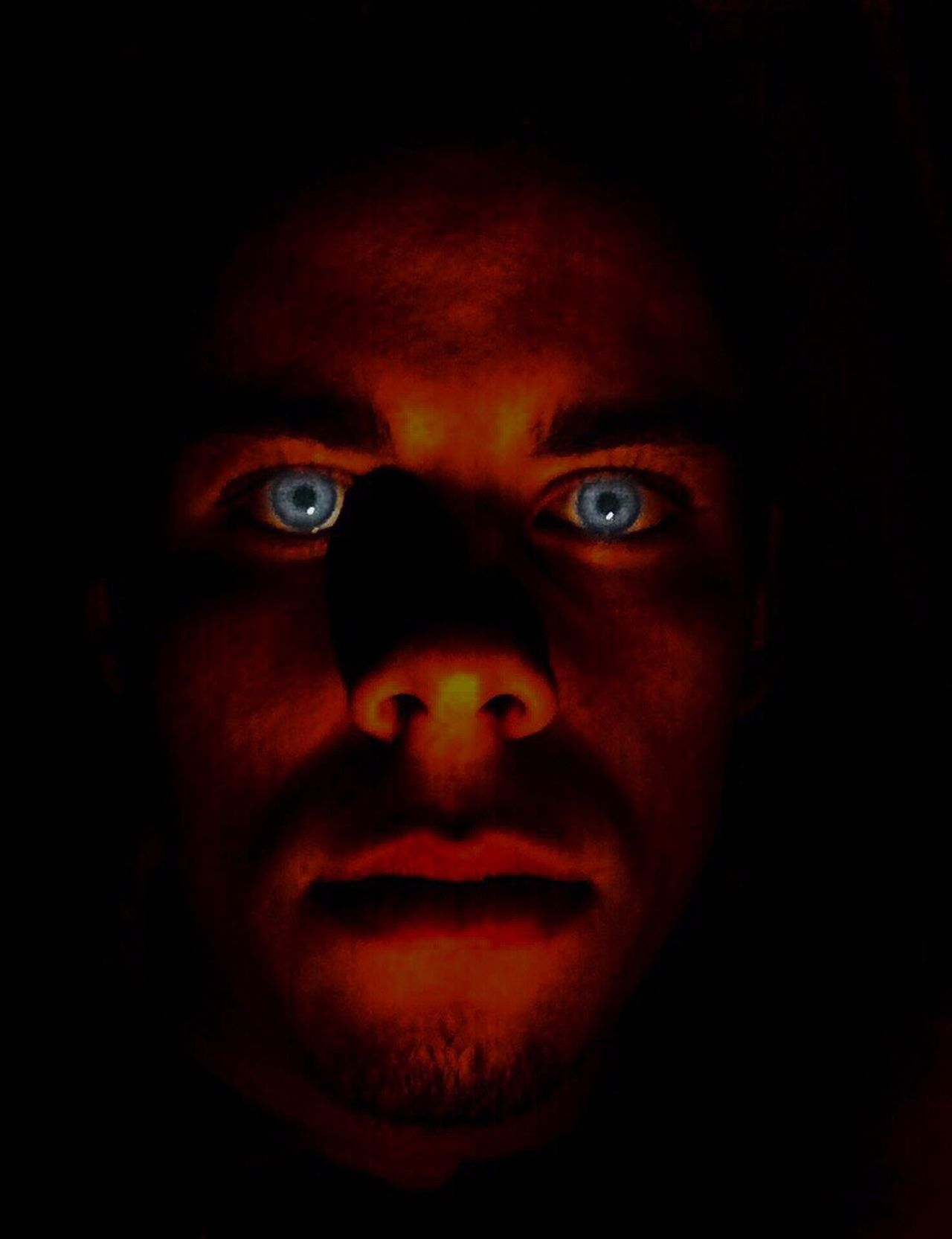 Red Human Eye Looking Human Face Spooky Horror Human Body Part Shock Portrait One Person Close-up Young Adult Men People Adult Adults Only One Man Only