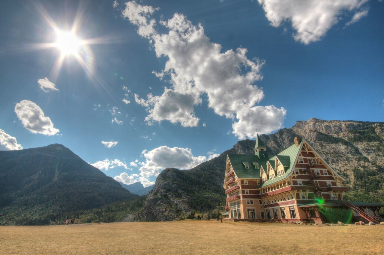 WatertonLakeNationalPark Princeofwaleshotel Alberta Summertime Outdoor HDR Sunlight ☀ Landscape Canada Canadian Rockies