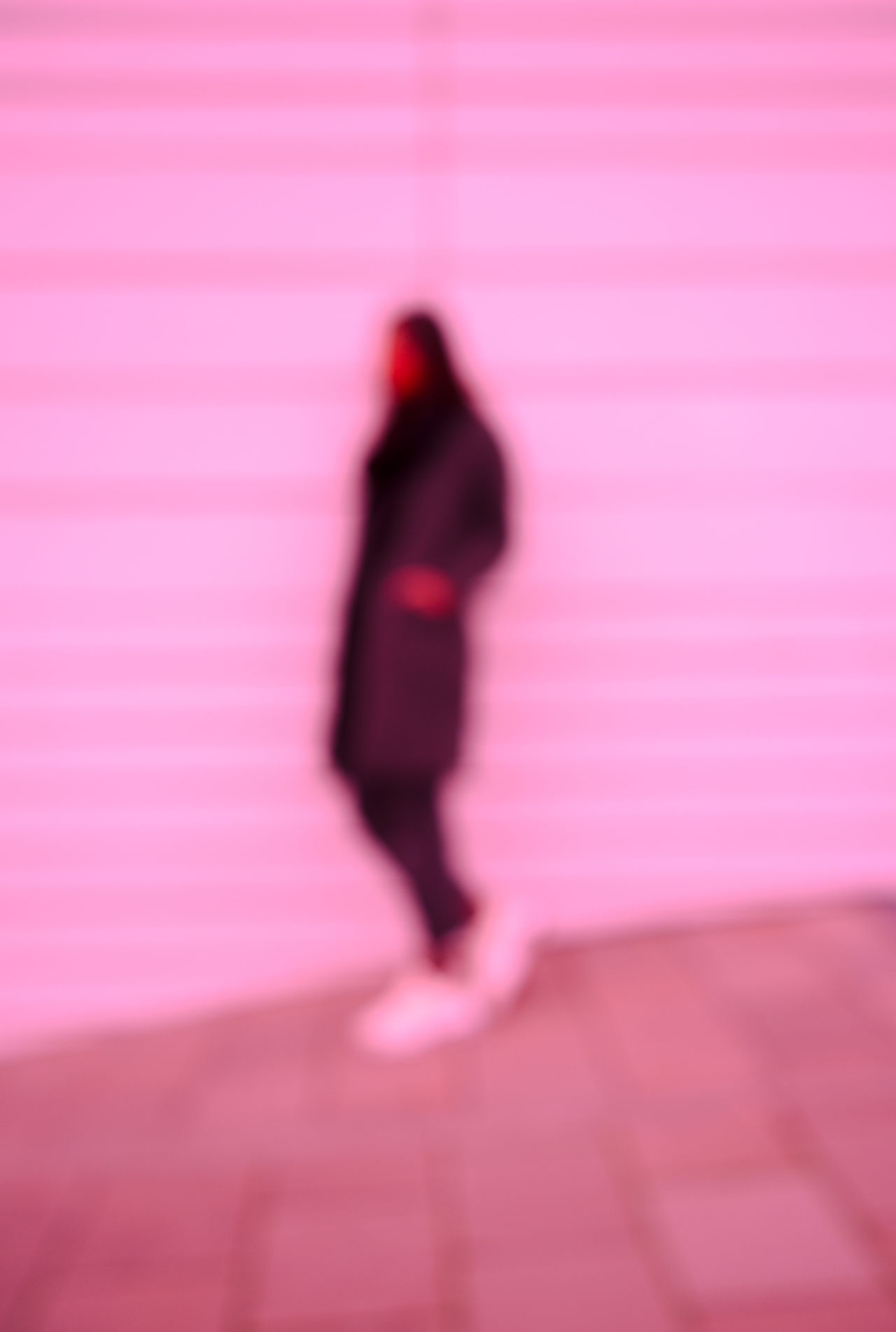 BLURRED SITUATION Adult Adults Only Blurred Motion Full Length One Person Pink Color Speed Walking