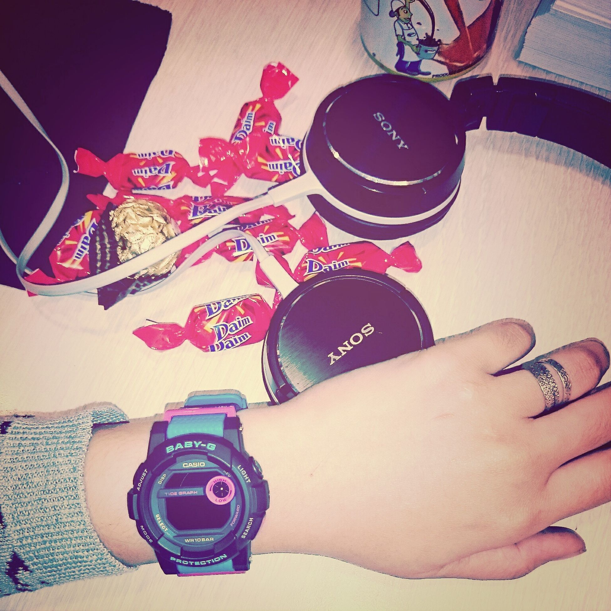 Ilovemywatch Chocolate♡ Quality Time Enjoying Life wit music its perfect for me.☺