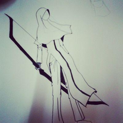 First draft. Tema: Istisyhad. Nk labuhkn baju ke nak bagi je dia pakai kain eh? Drawings Igotexcited